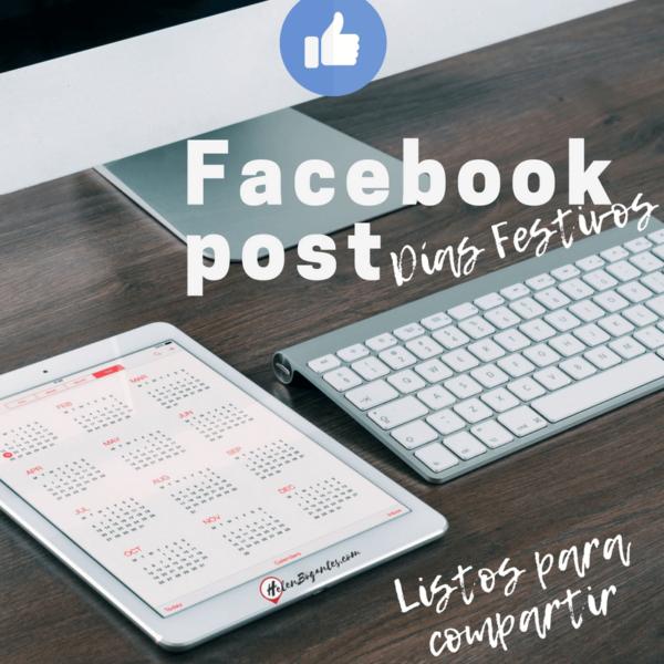 Facebook post Días Festivos