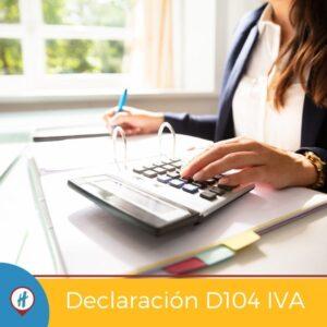 Declaración D104 IVA en Costa Rica