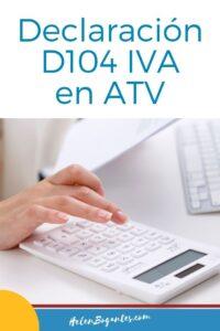Declaración D104 IVA en ATV de Hacienda en Costa Rica
